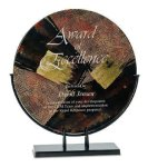 Round Art Glass Award Employee Awards
