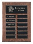 EasyUpdate Genuine Walnut Perpetual Plaques Employee Awards
