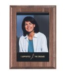 EasyUpdate Genuine Walnut Photo Plaque Employee Awards