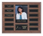 EasyUpdate Walnut Veneer Perpetual Photo Plaque Employee Awards