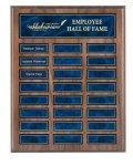 EasyUpdate Perpetual Plaque with Blue Plates Employee Awards
