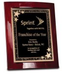 Rosewood Piano Finish Eclipse Plaque Employee Awards