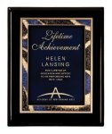 Black Piano Finish Plaque Award Employee Awards