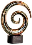 Swirl Art Glass Award Employee Awards
