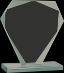 Cut Diamond Jade Glass Award Employee Awards