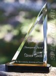 Spectacular Slant Color Accented Acrylic Award Executive Acrylic Awards