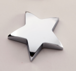 Chrome Star Paper Weight with Felt Bottom. Executive Gift Awards