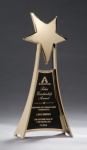 Star Casting Trophy in Gold Tone Finish Executive Gift Awards