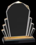Gold Faceted Impress Acrylic Fan Awards