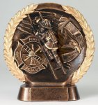 Resin Plate Fireman Fire and Safety Awards