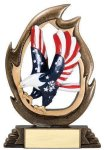 Flame Series Eagle Flame Resin Trophy Awards