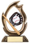 Flame Series Baseball Flame Resin Trophy Awards