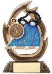 Flame Series Swimming Flame Resin Trophy Awards