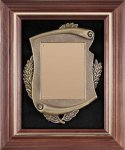 Walnut Cast Corporate Plaque Frame Plaques