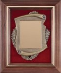 Walnut Frame Cast Corporate Plaque Frame Plaques
