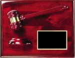 Rosewood Piano Finish Gavel Plaque Gavel Plaques