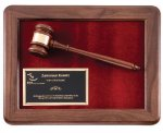 Walnut Frame Gavel Plaque Gavel Plaques