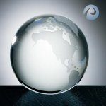 Clear Ocean World Globe Globe Crystal Awards