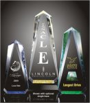 Faceted Obelisk Acrylic Award Gold Acrylics
