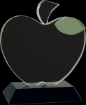Crystal Apple with Base Graduation Awards