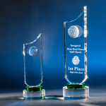 La Paloma Green Optical Crystal Awards