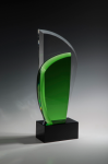 Green Leaf Green Optical Crystal Awards