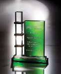 Escalator Green Optical Crystal Awards