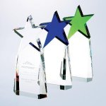 Triumphant Star Award Green Optical Crystal Awards