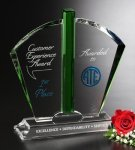 Fandango Crystal Award Green Optical Crystal Awards
