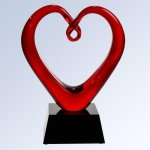 The Whole Hearted Art Glass Award Heart Awards