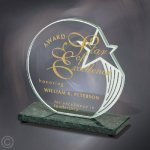 Sculpted Star Jade Glass Awards
