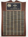 Walnut Perpetual Plaque Large Perpetual Plaques