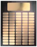 Walnut Finish Perpetual Plaque with Gold Brass Plates Large Perpetual Plaques