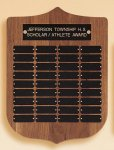 American Walnut Shield Perpetual Plaque Medium Perpetual Plaques