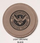 Laser Leather Individual Round Coasters Misc. Gift Awards