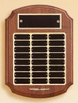 American Walnut Ornate Perpetual Plaque Monthly Perpetual Plaques