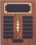Perpetual Plaque Assembled with Black Plates Monthly Perpetual Plaques