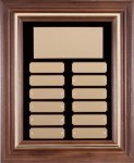 Walnut Frame Corporate Plaque Monthly Perpetual Plaques