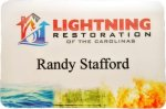 Plastic Full Color Sublimated Name Badge 2 x 3 Matte Name Badges
