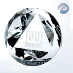 Slant Top Dome Paperweight Paperweight Crystal Awards