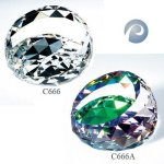 Gem-Cut Round Paperweight Crystal Awards