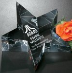 Slanted Star Paper Weight Paperweight Crystal Awards
