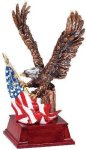 Eagle and Flag Copper With Cherry Base Patriotic Awards