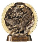Resin Plate Eagle On Flag Patriotic Awards