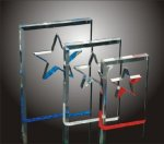 Star Cut-Out Acrylic Award Patriotic Awards