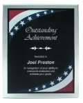 Patriotic Border Clear Acrylic Award Plaque Patriotic Awards