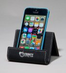 Laser Leather Smart Phone / Business Card Holder Phone & Tablet Cases