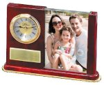 Wood and Glass Photo Clock Photo Gift Items