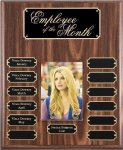 Walnut Finish Perpetual Plaque Photo Perpetual Plaques