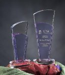 Sobe Purple Optical Crystal Awards